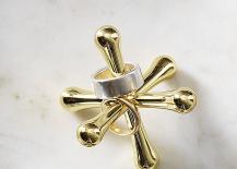 Brass ring holder from CB2