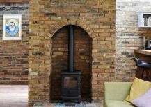 Brick firelace feature of the 80s London home