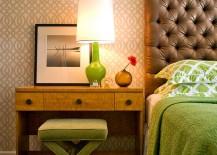 Capri Bottle Lamp in green for the bedroom