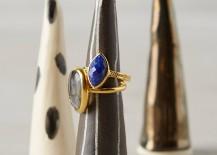 Ceramic ring cones from Anthropologie