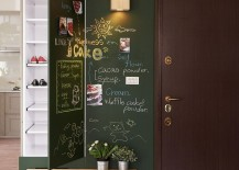 Chalkboard wall at the entrance of family home in Kaohsiung City Taiwan 217x155 Fascinating Family Residence in Taiwan Brings the Playground Indoors!