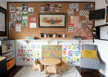 Cleverly combined craft room and playroom