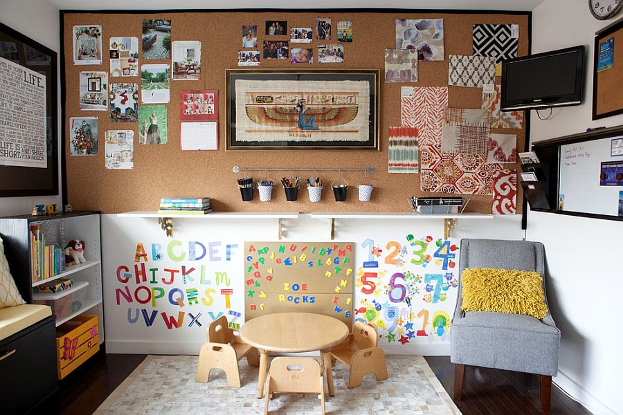View In Gallery Cleverly Combined Craft Room And Playroom [Design: Joy  Street Design]