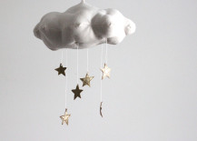 Cloud and star mobile from Etsy shop Baby Jives Co.
