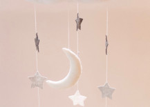 Cloud, moon and star mobile from Etsy shop Blossom Hill