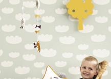 Cloud wallpaper from ferm LIVING