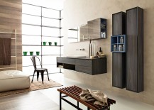 Compose a contemporary and refined bathroom with the Libera Collection