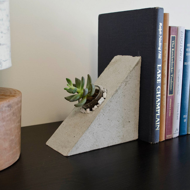 Concrete planters with small built-in planters