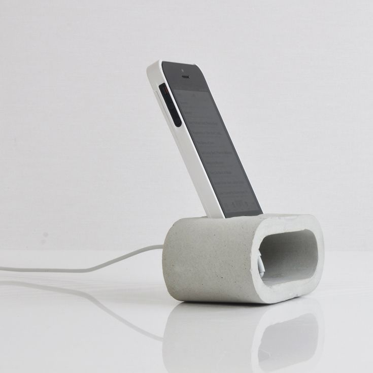 Concrete smartphone charging station
