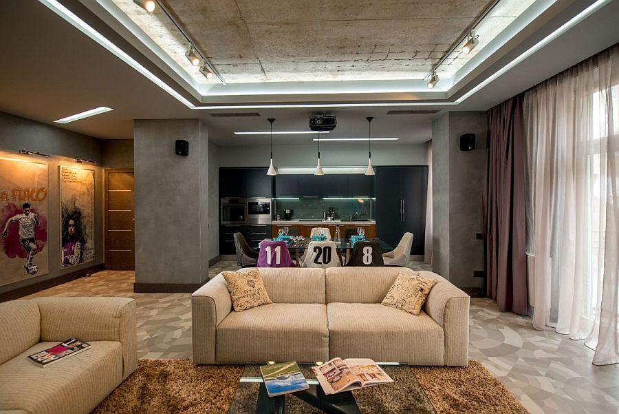 Contemporary Footballer's apartment in Lviv