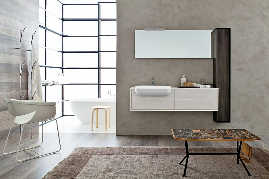 Contemporary Italian bathroom vanities from Snaidero