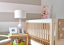 Cool stripes look great in the girls' nursery as well
