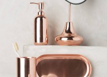 Copper bath accessories from Anthropologie
