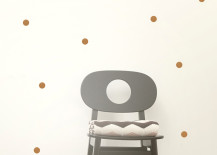 Copper dot wall stickers from ferm LIVING
