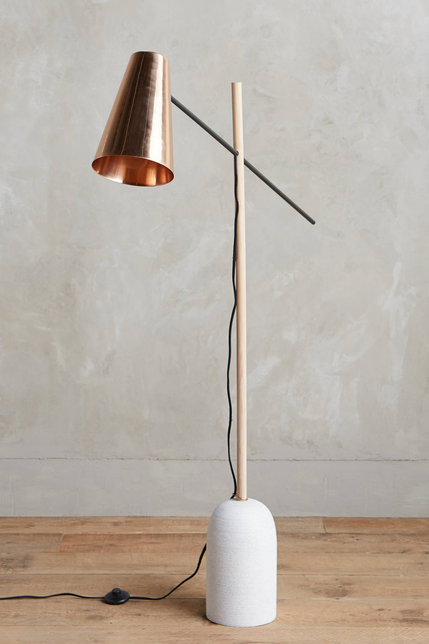 Copper floor lamp from Anthropologie