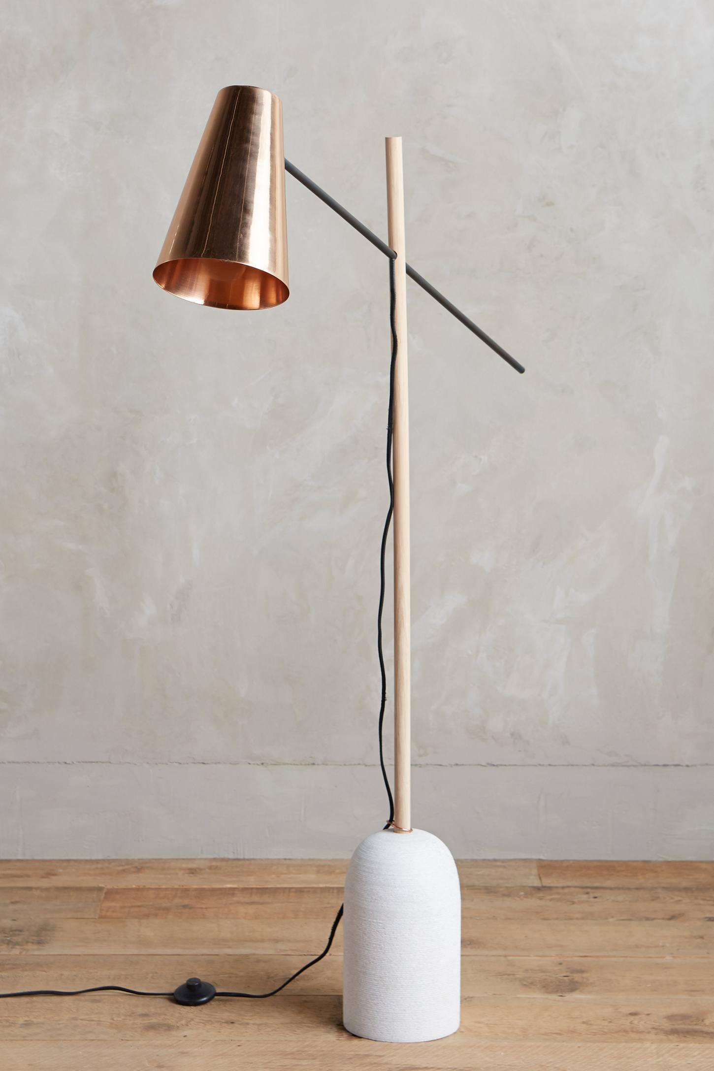 Copper floor lamp from Anthropologie