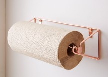 Copper paper towel rack from West Elm