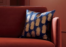 Copper pineapple pillow from CB2