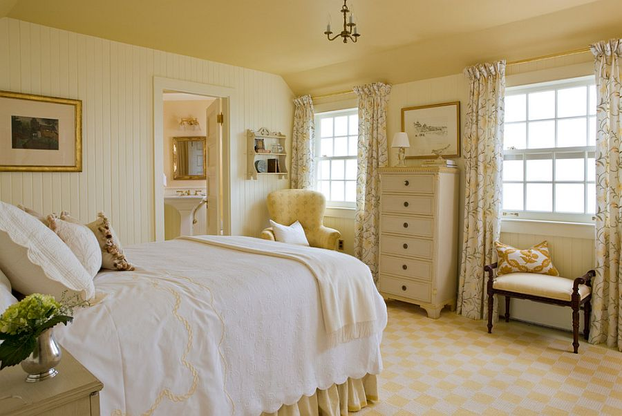 Cozy Victorian bedroom filled with antique and vintage pieces [Design: Elizabeth Brosnan Hourihan Interiors]