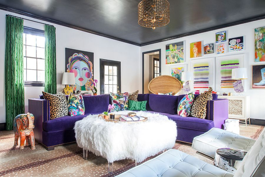 Cozy eclectic living room with a splash of color [From: The English Room]