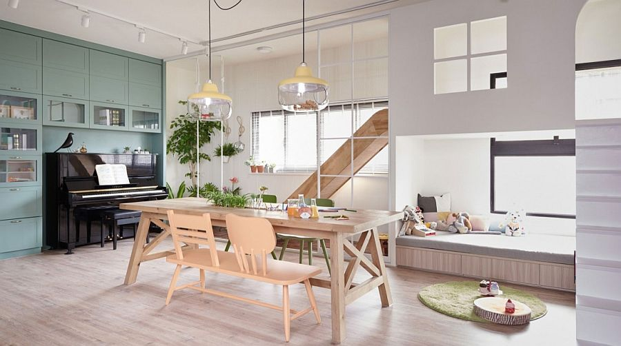 Cozy kids' nook, dining space and playarea rolled into one