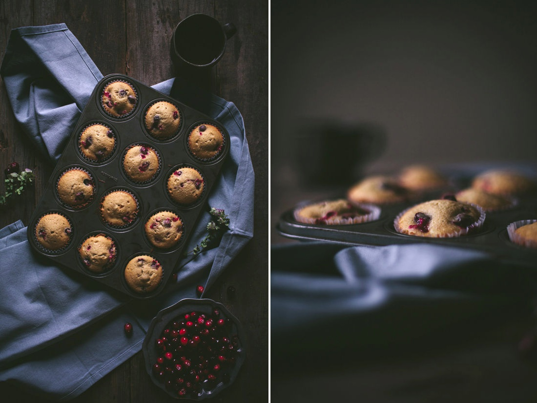 Cranberry cream cheese muffins from Design Love Fest
