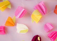 Crepe paper flower garland from Oh Happy Day!