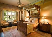 Custom Victorian canopy design in the bedroom