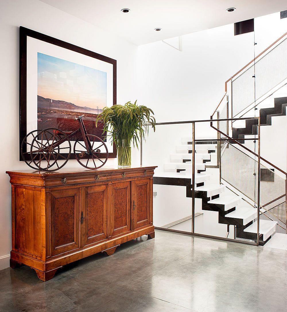 Custom decor gives the interior a classy, refined aura