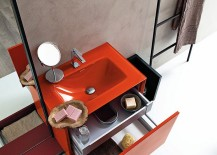 Custom design of the bathroom vanity lets it adapt to your needs