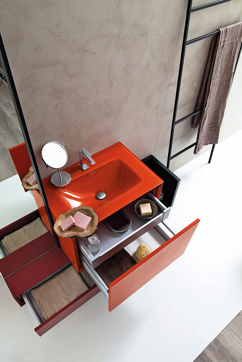 Custom design of the bathroom vanity lets it adapt to your needs