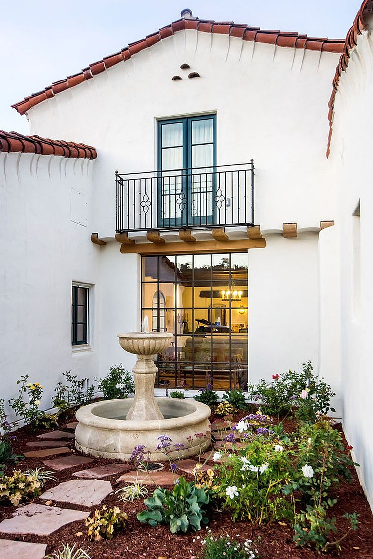Custom made window and balcony for the Mediterranean home [From: VI360 Photography]