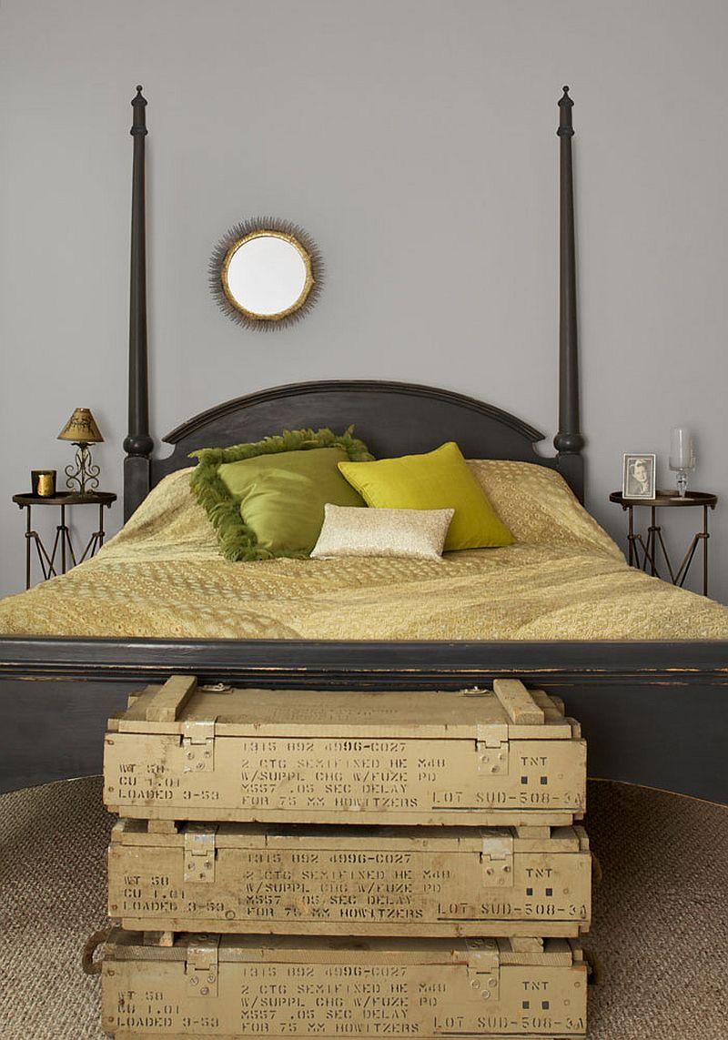 DIY bedroom bench idea