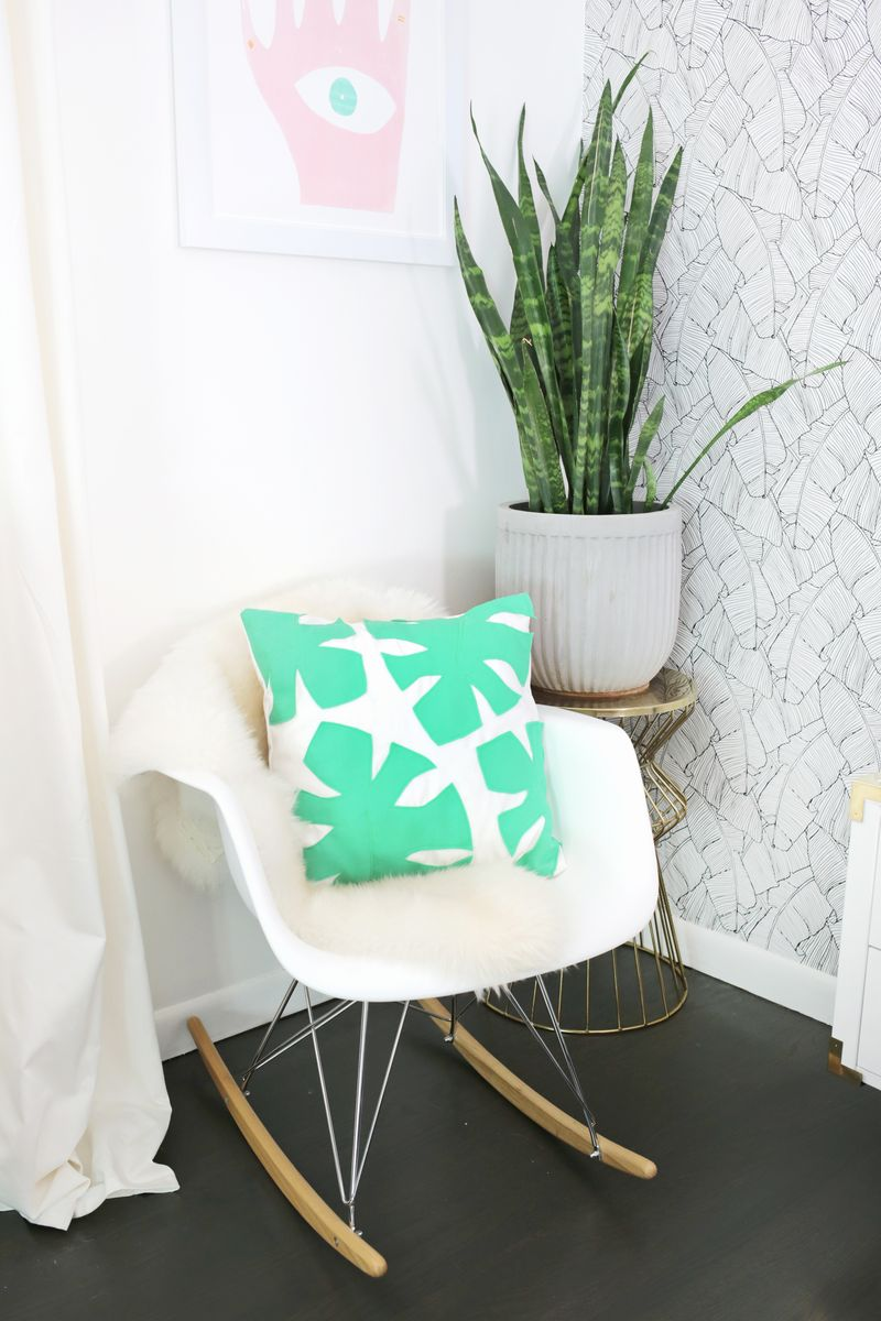 DIY felt palm leaf pillow from A Beautiful Mess