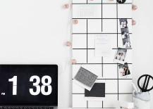 DIY memo board from Homey Oh My!