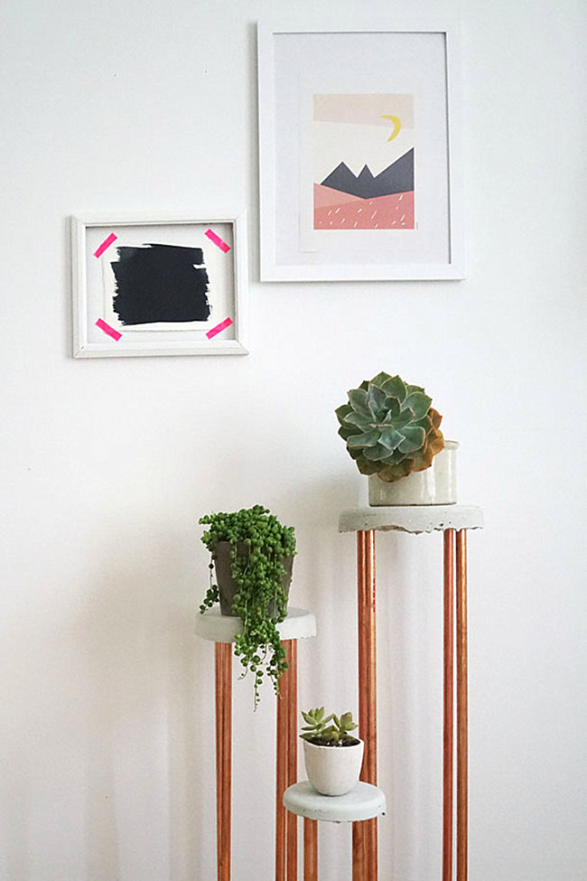 DIY plant stands from Camille Styles