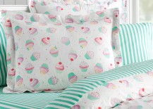 Dessert themed bedding from PB Teen 217x155 Teen Bedroom Ideas Featuring Top Decor Trends