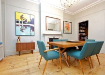 Dining room with midcentury vibe