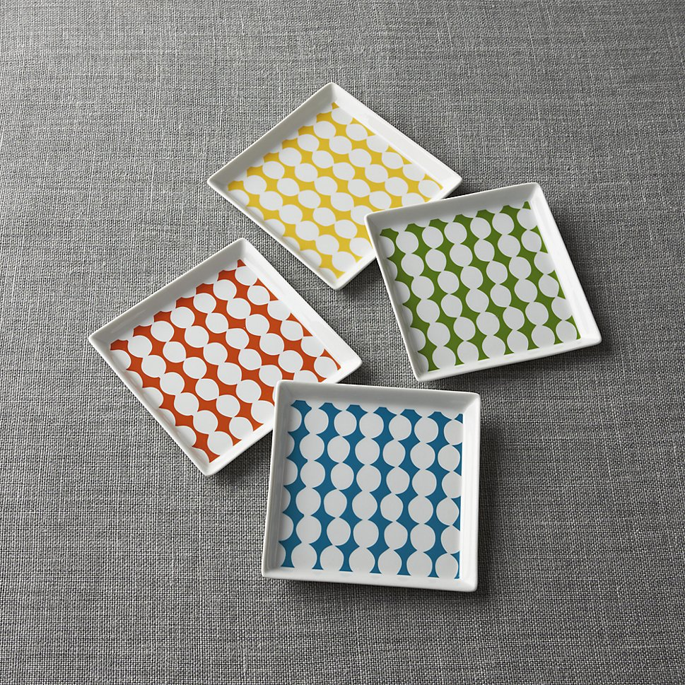 Dotted plates from Crate & Barrel