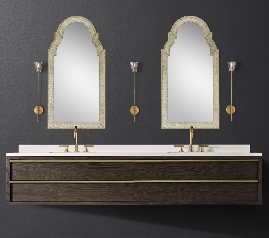 Double floating vanity from RH Modern