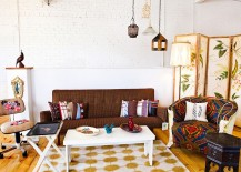 Eclectic living room with vintage decor