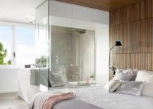Elegant bedroom with plush textures