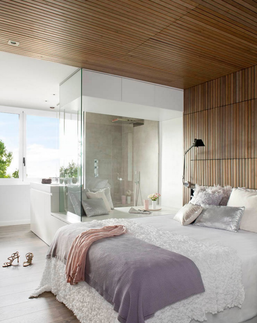 Elegant bedroom with plush textures