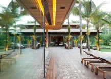 Fabulous use of timber and lighting creates a relaxing and grand pavilion