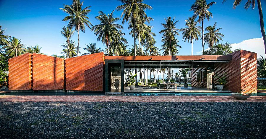 Fanulous contemporary brick and polished concrete house in Koh Phangan