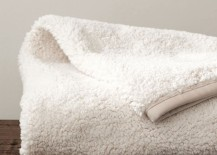 Faux sheepskin throw from Pottery Barn