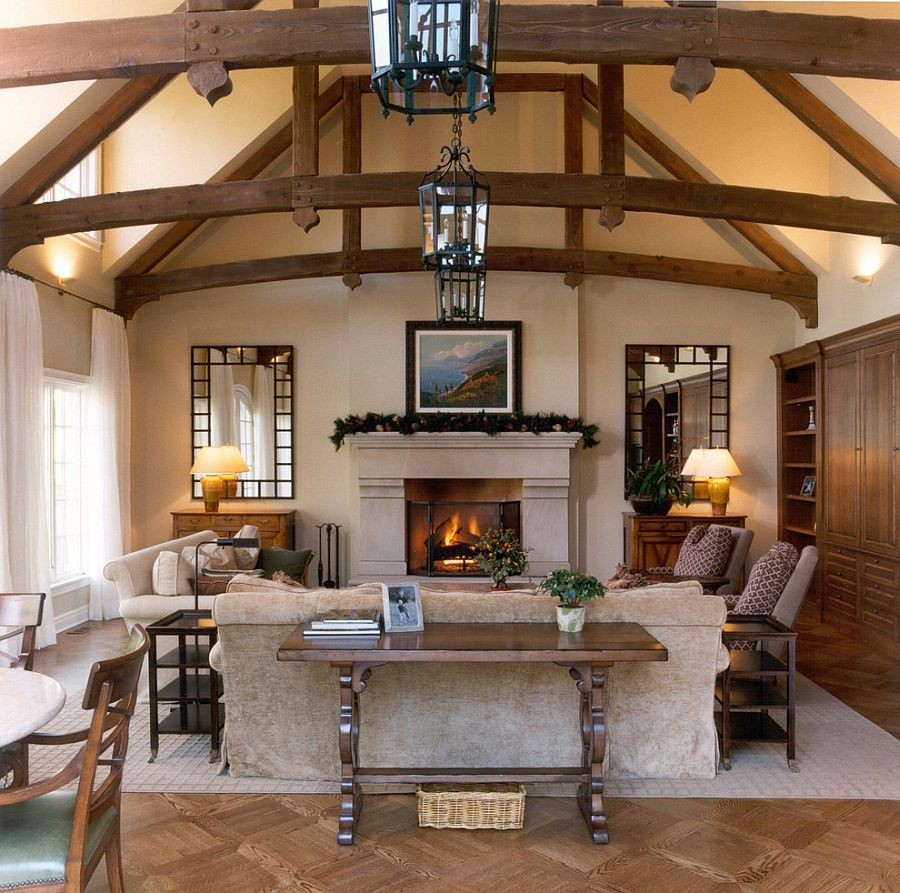 Fireplace carries festive charm beyond December with ease