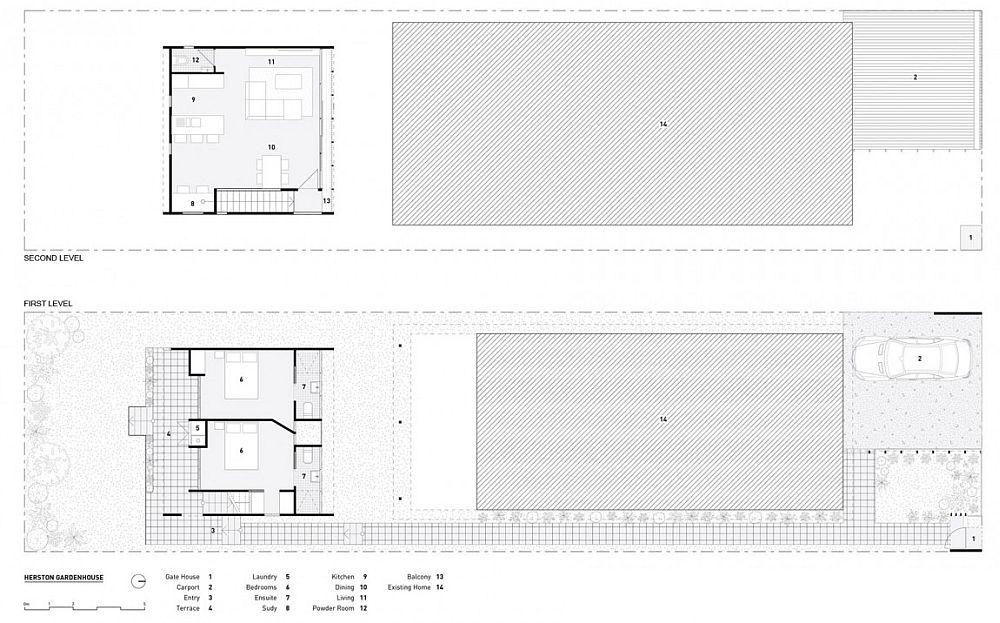 Floor plan of the Herston Gardenhouse