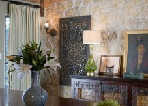 Formal dining room with Spanish Colonial style