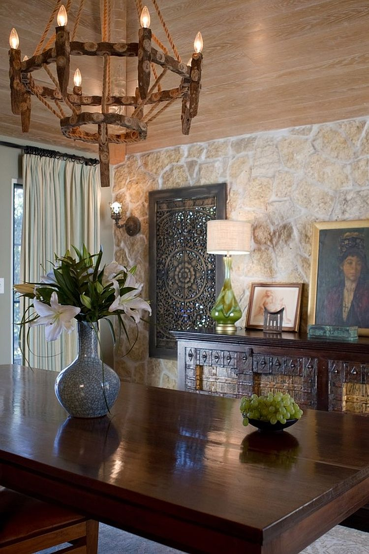 Formal dining room with Spanish Colonial style [Design: Charmean Neithart Interiors]